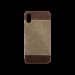 Apple iPhone X - Okrasni pokrovček (TPL) - rjav
