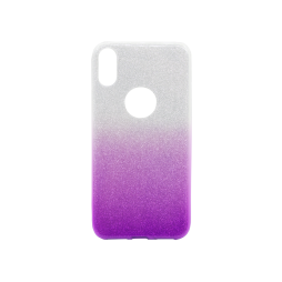 Apple iPhone X - Gumiran ovitek (TPUB) - vijolična