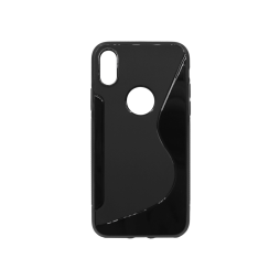 Apple iPhone X / XS - Gumiran ovitek (TPU) - črn SLine