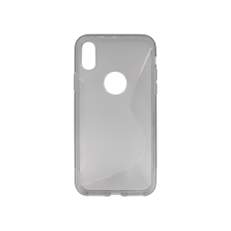 Apple iPhone X / XS - Gumiran ovitek (TPU) - sivo-prosojen SLine