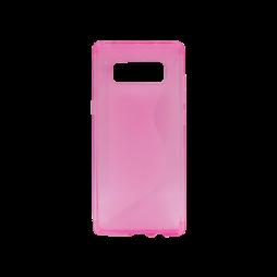 Samsung Galaxy Note 8 - Gumiran ovitek (TPU) - roza-prosojen CS-Type
