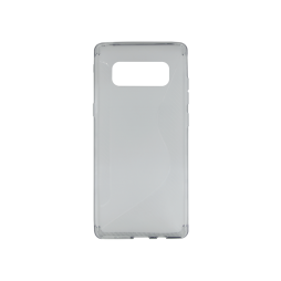 Samsung Galaxy Note 8 - Gumiran ovitek (TPU) - sivo-prosojen CS-Type