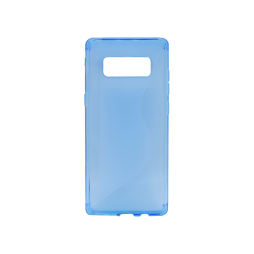 Samsung Galaxy Note 8 - Gumiran ovitek (TPU) - modro-prosojen CS-Type