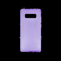 Samsung Galaxy Note 8 - Gumiran ovitek (TPU) - vijolično-prosojen CS-Type