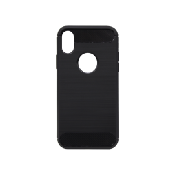 Apple iPhone X / XS - Gumiran ovitek (TPU) - črn A-Type