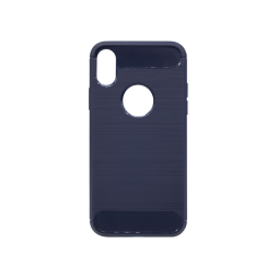 Apple iPhone X - Gumiran ovitek (TPU) - moder A-Type