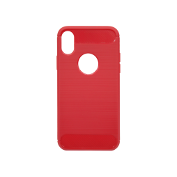 Apple iPhone X / XS - Gumiran ovitek (TPU) - rdeč A-Type