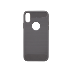 Apple iPhone X / XS - Gumiran ovitek (TPU) - siv A-Type