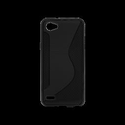 LG Q6 - Gumiran ovitek (TPU) - črn CS-Type