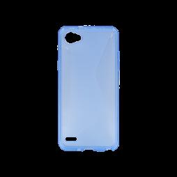 LG Q6 - Gumiran ovitek (TPU) - modro-prosojen CS-Type