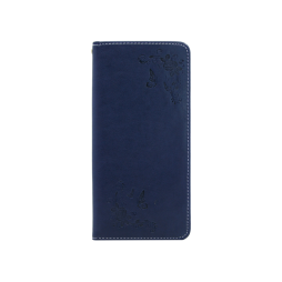 Samsung Galaxy Note 8 - Preklopna torbica (WLGO-Butterfly) - modra