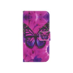 Apple iPhone X / XS - Preklopna torbica (WLGP) - Purple Butterfly