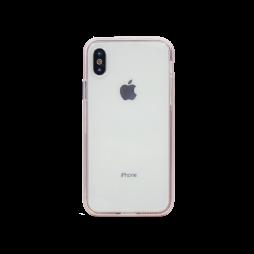 Apple iPhone X / XS - Gumiran ovitek (TPU+ALU) - roza