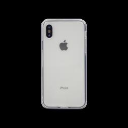 Apple iPhone X / XS - Gumiran ovitek (TPU+ALU) - siv