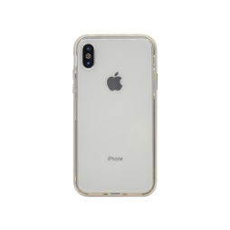 Apple iPhone X / XS - Gumiran ovitek (TPU+ALU) - zlat