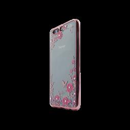 Huawei Honor 9 - Gumiran ovitek (TPUE) - roza rob - roza rožice