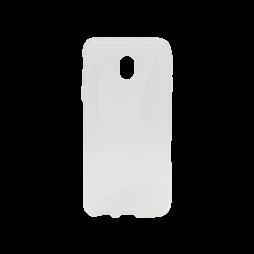 Samsung Galaxy J3 (2017) - Gumiran ovitek (TPU) - belo-prosojen CS-Type
