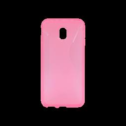 Samsung Galaxy J3 (2017) - Gumiran ovitek (TPU) - roza-prosojen CS-Type
