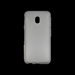 Samsung Galaxy J3 (2017) - Gumiran ovitek (TPU) - sivo-prosojen CS-Type