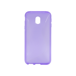 Samsung Galaxy J3 (2017) - Gumiran ovitek (TPU) - vijolično-prosojen CS-Type