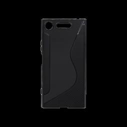 Sony Xperia XZ1 - Gumiran ovitek (TPU) - črn CS-Type