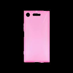 Sony Xperia XZ1 - Gumiran ovitek (TPU) - roza-prosojen CS-Type