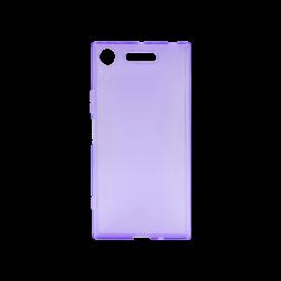 Sony Xperia XZ1 - Gumiran ovitek (TPU) - vijolično-prosojen CS-Type