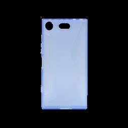 Sony Xperia XZ1 Compact - Gumiran ovitek (TPU) - modro-prosojen CS-Type