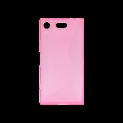 Sony Xperia XZ1 Compact - Gumiran ovitek (TPU) - roza-prosojen CS-Type