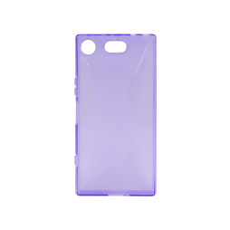 Sony Xperia XZ1 Compact - Gumiran ovitek (TPU) - vijolično-prosojen CS-Type