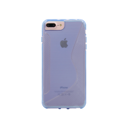 Apple iPhone 6/6S/7/8 Plus - Gumiran ovitek (TPU) - modro-prosojen CS-Type