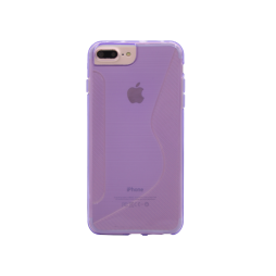 Apple iPhone 6/6S/7/8 Plus - Gumiran ovitek (TPU) - vijolično-prosojen CS-Type