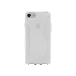 Apple iPhone 6/6S/7/8 - Gumiran ovitek (TPU) - belo-prosojen CS-Type