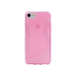 Apple iPhone 6/6S/7/8 - Gumiran ovitek (TPU) - roza-prosojen CS-Type