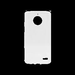 Motorola Moto E4 - Gumiran ovitek (TPU) - belo-prosojen svetleč