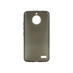 Motorola Moto E4 - Gumiran ovitek (TPU) - sivo-prosojen svetleč