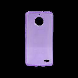 Motorola Moto E4 - Gumiran ovitek (TPU) - vijolično-prosojen svetleč