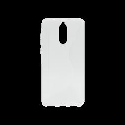Huawei Mate 10 Lite - Gumiran ovitek (TPU) - belo-prosojen CS-Type