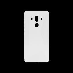 Huawei Mate 10 Pro - Gumiran ovitek (TPU) - belo-prosojen CS-Type