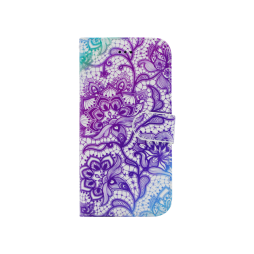 Apple iPhone X / XS - Preklopna torbica (WLGP) - Purple lotus