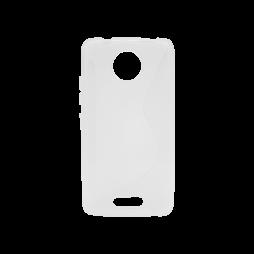 Motorola Moto C - Gumiran ovitek (TPU) - belo-prosojen CS-Type
