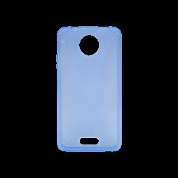 Motorola Moto C - Gumiran ovitek (TPU) - modro-prosojen CS-Type