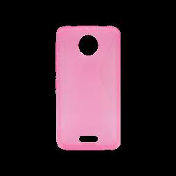 Motorola Moto C - Gumiran ovitek (TPU) - roza-prosojen CS-Type