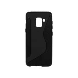 Samsung Galaxy A8 (2018) - Gumiran ovitek (TPU) - črn CS-Type