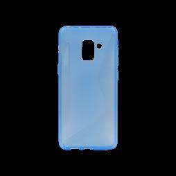 Samsung Galaxy A8 (2018) - Gumiran ovitek (TPU) - modro-prosojen CS-Type