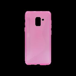 Samsung Galaxy A8 (2018) - Gumiran ovitek (TPU) - roza-prosojen CS-Type