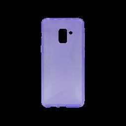 Samsung Galaxy A8 (2018) - Gumiran ovitek (TPU) - vijolično-prosojen CS-Type