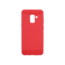 Samsung Galaxy A8 (2018) - Gumiran ovitek (TPU) - rdeč A-Type