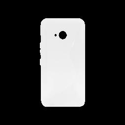 HTC U11 Life - Gumiran ovitek (TPU) - belo-prosojen CS-Type