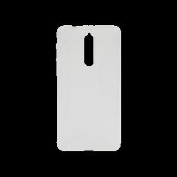Nokia 8 - Gumiran ovitek (TPU) - belo-prosojen CS-Type